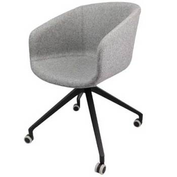 Basket Chair – Fully Upholstered with 4 Star Arch Base with Castors