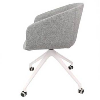 Basket Chair – Fully Upholstered with 4 Star Arch Base with Castors 2