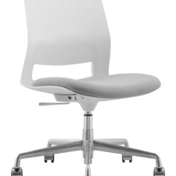 CHAIR SNOUT CASTOR WHITE GREY SEATPAD
