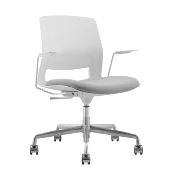 ARM CHAIR SNOUT 4 LEG WHITE GREYBLACK SEATPAD front 800