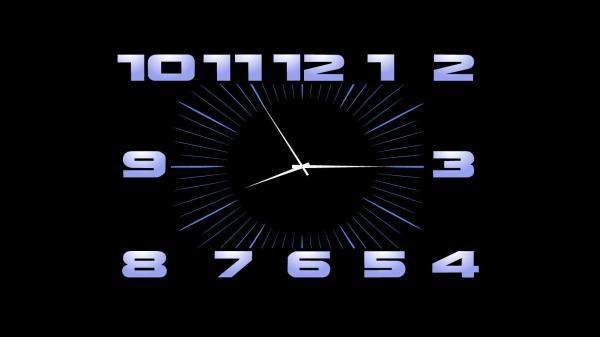 Заставка часы Московское время на рабочий стол