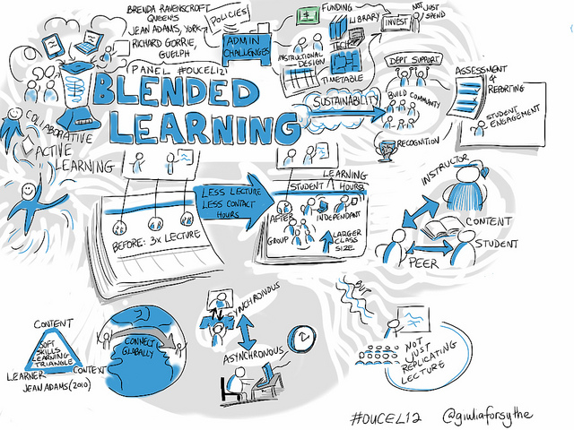 <span class='p-name'>Blended or Hybrid Learning Environments</span>