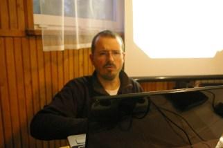 Adam Grzegorzewski w trakcie prezentacji
