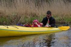 To już nie pierwszy spływ Julki. Zaczynała na Jeziorce (fot. Kinga Kępa)