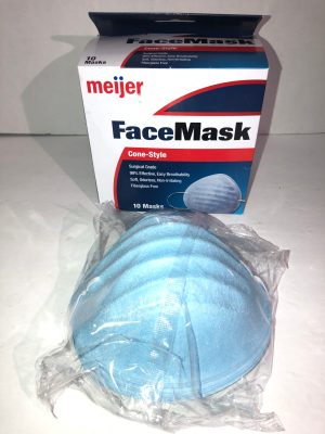 Meijer Cone-Style Face Masks Surgical Grade 99% Effective