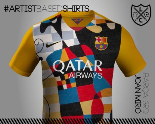 Camisetas de fútbol basadas en pinturas famosas miro%CC%81-