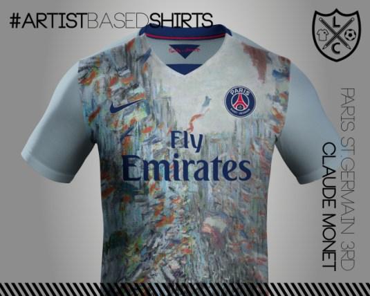 Camisetas de fútbol basadas en pinturas famosas mone
