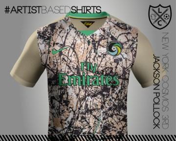 Camisetas de fútbol basadas en pinturas famosas pollo
