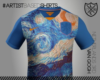 Camisetas de fútbol basadas en pinturas famosas vangoh