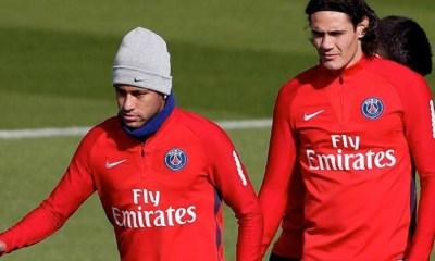 Neymar será baja contra el Montpellier, Cavani, Neymar, PSG