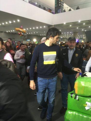 Alejandro Arribas llegó al Aeropuerto