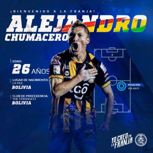 Alejandro Chumacero es nuevo jugador