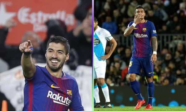 Luis Suárez y Paulinho dieron la victoria