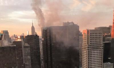 Incendio en la Torre Trump, Fuego en la azotea de la Torre Trump, Incendio en la Torre Trump de Nueva York