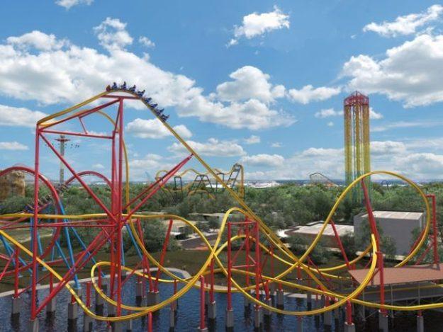 Avanza Construccion De La Wonder Woman Coaster En Six Flags Mexico