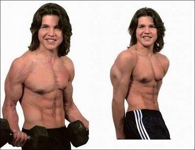 Así luce hoy Richard Sandrak, el niño más musculoso del mundo richard-mentre-fa-sollevamento-pesi