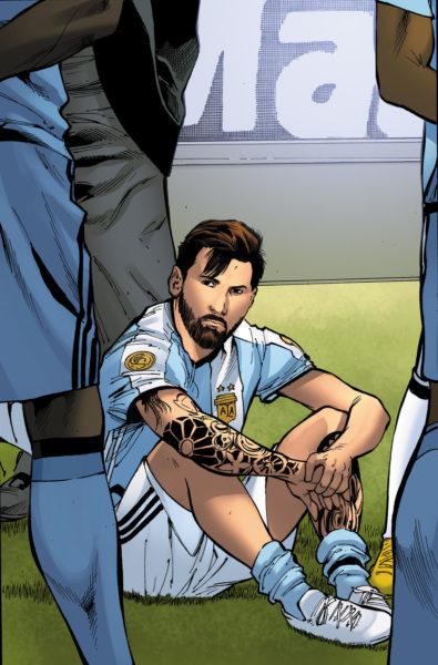 ¿Las estrellas del futbol son superhéroes? Crean cómic del mundial 0105