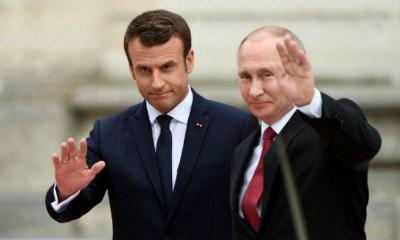 Macron felicitó a Putin
