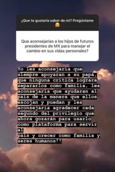 Por aquello del qué dirán: el consejo de Paulina Peña a los hijos de AMLO paulina-pena-envia-consejo-hijos-281x500