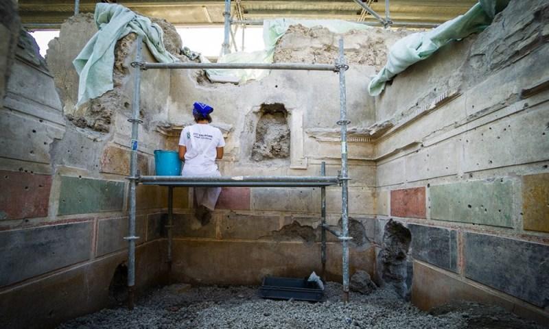 Descubrieron la 'Casa de Júpiter' al desenterrar restos de Pompeya Descubrieron-la-Casa-de-J%C3%BApiter-1