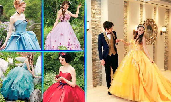 Lanzan colección de vestidos de novia inspirados en princesas de Disney Vestidos-Disney-600x360