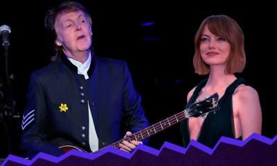 Emma Stone y Paul McCartney