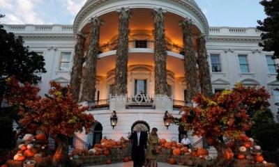"""Casa Blanca se """"disfrazó"""" de Halloween"""