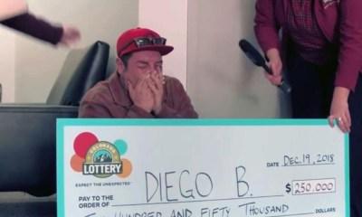 Hombre de la calle ganó la lotería