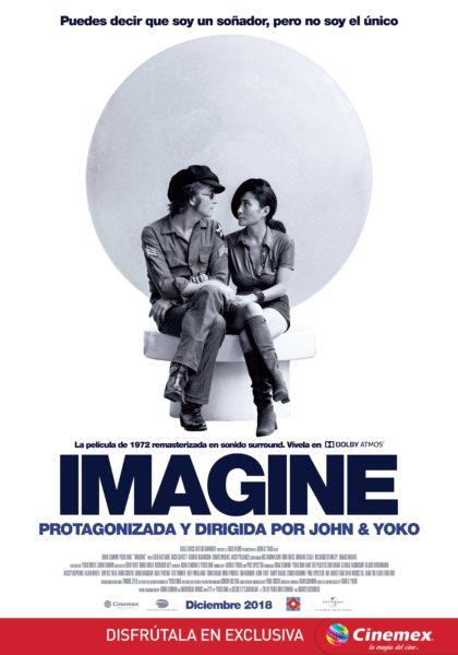 Con un nuevo sonido vuelve 'Imagine' de John y Yoko al cine Imagine_One-Sheet_MX_pleca-visual-420x600