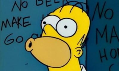 Homero Simpson usó su propio meme