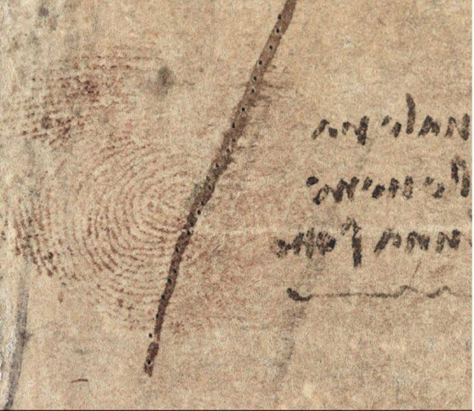Encuentran huella dactilar de Leonardo Da Vinci en una de sus obras leonardodavincihuelladactilar-692x600