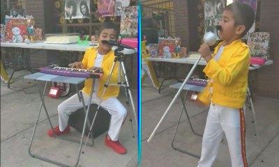 niño hizo su fiesta de 'Bohemian Rhapsody'