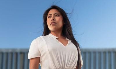 Yalitza Aparicio posó en la frontera