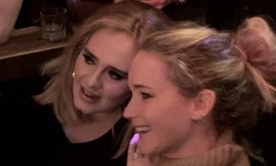 noche de fiesta de Adele y Jennifer Lawrence