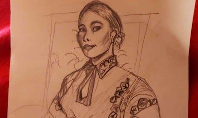 Yalitza Aparicio creó colección de dibujos