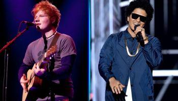 Ed Sheeran y Bruno Mars harán una canción