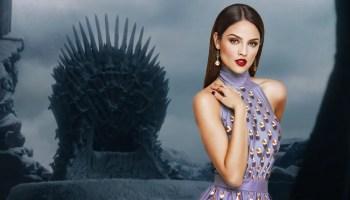 Eiza González y actor de 'Game of Thrones'