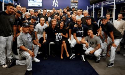 Yankees dio un emotivo regalo al hijo del príncipe Harry