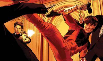 Shang Chi con el escudo de Captain America
