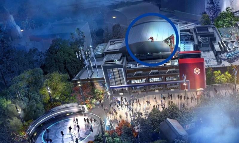 Avengers Campus: el parque temático para sentirse un Avenger Spiderman-en-el-Avengers-Campus