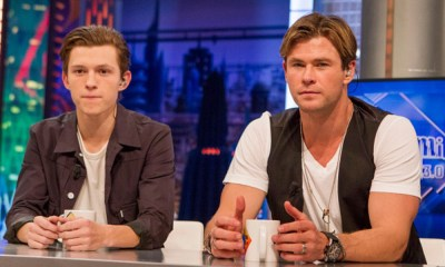 Tom Holland felicitó a Chris Hemsworth