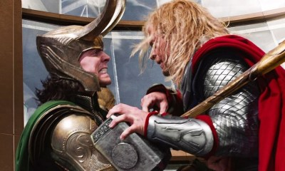 Tom Hiddleston fue golpeado por Chris Hemsworth