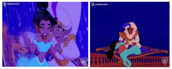 """Así se ven las princesas de Disney convertidas en """"mujeres reales"""" andhika-muksin-jasmine-600x241"""