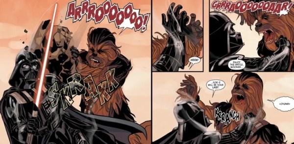 ¿Quién ganaría en una pelea entre Darth Vader y Chewbacca? Darth-Vader-contra-Chewbacca-1-600x295