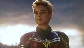 Captain Marvel iba a tener casco en endgame