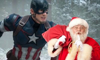 Captain America festeja la navidad