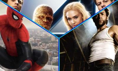 Wolverine y Spider-Man con los Fantastic Four