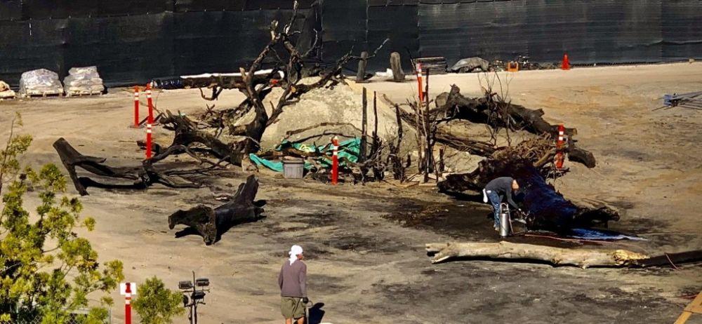 Imágenes del set de 'The Mandalorian 2' revelan conexión con el Episodio III Mustafar-en-The-Mandalorian-2