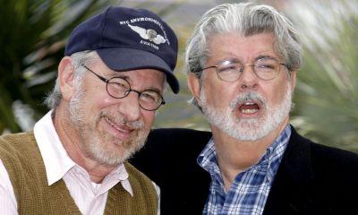 George Lucas y Steven Spielberg en Star Wars