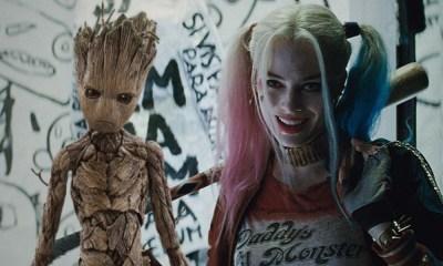 Harley Quinn y Groot juntos en The Suicide Squad